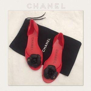 Shoes - ⭕️WEEKEND SALE⭕️ Chanel Camelia Jelly Flats